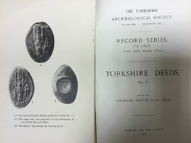 The title pages of one volume in the Record Series