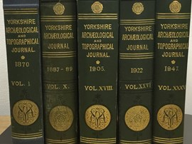 Some early volumes of the Yorkshire Archaeological Journal now available on the Internet Archive website