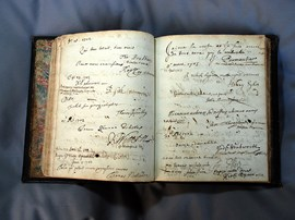 Museum Visitors' Book, 1702-3