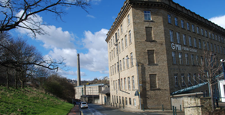 Dean Clough Mills, Halifax, home of Crossley's world-famous carpets, 1802-1982